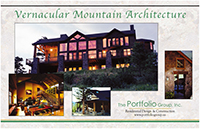 cover of Vernacula Mountain Architecture brochure